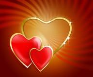 Valentinsgruß-Hintergrund Stockfoto