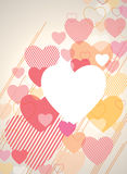 Valentinsgruß-Hintergrund Stockbild