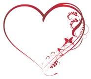 Valentinsgruß-Hintergrundelemente Stockbild