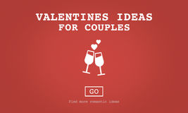 Valentinsgruß-Ideen für Paar-Romance Liebes-Toast-Datierungs-Konzept Stockfotografie