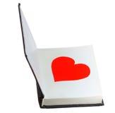 Valentinsgruß im Buch Stockfotografie