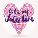 Valentinsgruß im offenen Umschlag Stockfoto