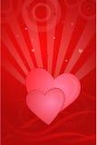 Valentinsgruß-Karte Stockbild