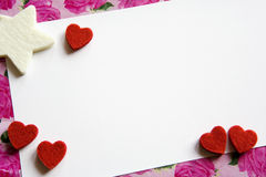 Valentinsgruß-Karte Lizenzfreies Stockfoto