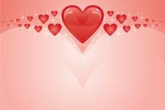 Valentinsgruß-Karte mit Inneren Stockfoto