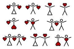 Valentinsgruß - kleine Abbildungen (1) Stockfoto