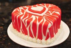 Valentinsgruß-Kuchen Stockbilder