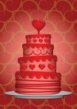 Valentinsgruß-Kuchen Stockfotografie