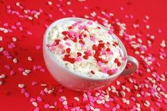Valentinsgruß latte Stockbild