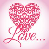 Valentinsgruß-Liebes-Herz-Vektor Lizenzfreie Stockbilder
