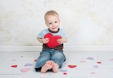 Valentinsgruß-Liebes-Kind Lizenzfreies Stockbild