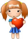 Valentinsgruß-Mädchen Stockbild