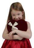 Valentinsgruß-Mädchen Stockfoto