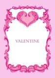 Valentinsgruß mit Innerem Lizenzfreies Stockbild