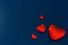 Valentinsgruß mit Tropfen Stockbild
