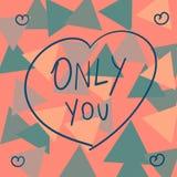 Valentinsgruß ` nur Sie ` Lizenzfreies Stockfoto