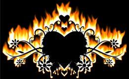 Valentinsgruß-Raster stock abbildung