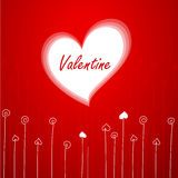 Valentinsgruß `s Grußkarte Stockfotos