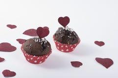 Valentinsgruß ` s Muffin Stockbild