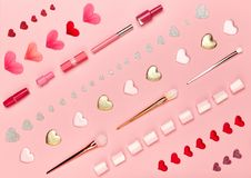 Valentinsgruß ` s Tag bilden Hintergrund Lizenzfreie Stockfotos