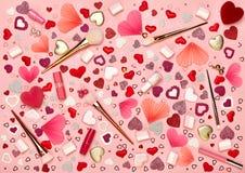 Valentinsgruß ` s Tag bilden Hintergrund Lizenzfreies Stockbild