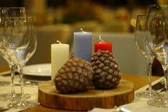 Valentinsgruß ` s Tag feiern Restaurant, Dekor Stockbilder