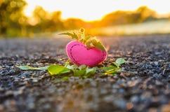Valentinsgruß `s Tag Gestrickte Innere Stockfotos
