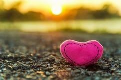 Valentinsgruß `s Tag Gestrickte Innere Lizenzfreies Stockbild