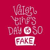 Valentinsgruß ` s Tag ist so gefälscht Helle mehrfarbige romantische Buchstaben, beschriftend Stockfotos
