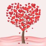 Valentinsgruß ` s Tagesbaum Zwei Innere lizenzfreie abbildung