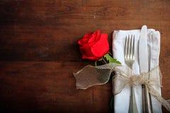 Valentinsgruß ` s Tagesgedeck Stockbilder