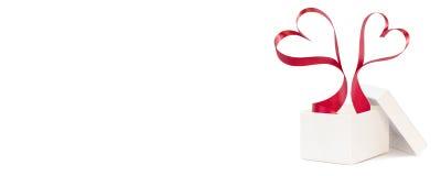 Valentinsgruß ` s Tagesgeschenk, Fahne Lizenzfreie Stockbilder