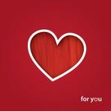 Valentinsgruß ` s Tagesgruß-Karte Stockfoto