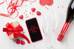 Valentinsgruß `s Tagesgrußkarte lizenzfreie stockbilder