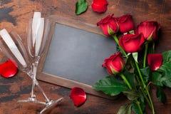 Valentinsgruß `s Tagesgrußkarte lizenzfreies stockbild