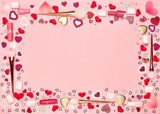 Valentinsgruß ` s Tageshintergrund Stockfotos