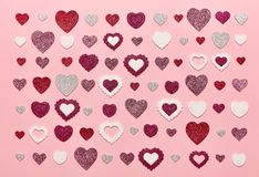 Valentinsgruß ` s Tageshintergrund Lizenzfreies Stockbild