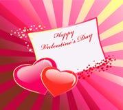 Valentinsgruß \ 's-Tageshintergrund lizenzfreie abbildung