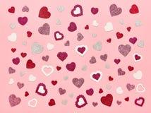 Valentinsgruß ` s Tageshintergrund-Rosa Lizenzfreie Stockfotografie