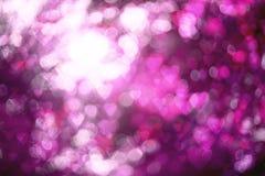 Valentinsgruß ` s Tageshintergrund unscharfes bokeh mit Herzen bokeh Art Stockfotos