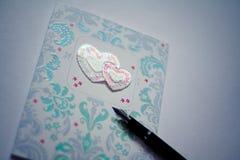 Valentinsgruß ` s Tageskarte Stockbilder