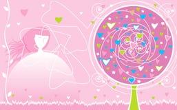 Valentinsgruß `s Tageskarte Stockbild