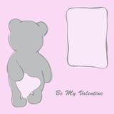 Valentinsgruß `s Tageskarte mit Bären Lizenzfreie Stockbilder