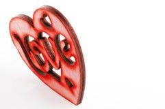 Valentinsgruß ` s Tageskarte - rotes Herz mit dem Wort Lizenzfreies Stockbild