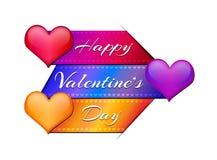 Valentinsgruß ` s Tageskarten-Zusammenfassungshintergrund mit Herzen Stockbilder
