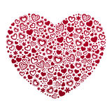 Valentinsgruß ` s Tageskartenschablone Stockfotografie