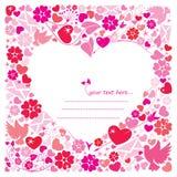 Valentinsgruß `s Tagespostkarte Lizenzfreie Stockfotografie