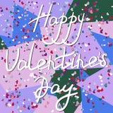 Valentinsgruß `s Tagespostkarte Stockbild