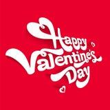 Valentinsgruß ` s Tagesvektorbild auf rotem Hintergrund Stockbild