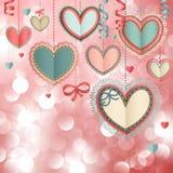 Valentinsgruß `s Tagesweinlesekarte Stockbilder